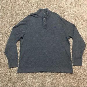 American Eagle Mock Neck Henley Thick Shirt XL